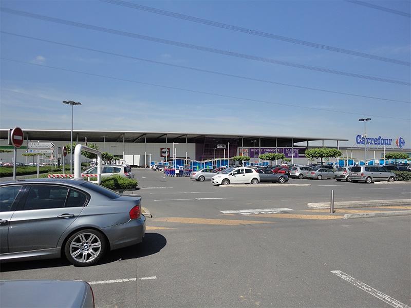 vidéosurveillance commerce avec parking